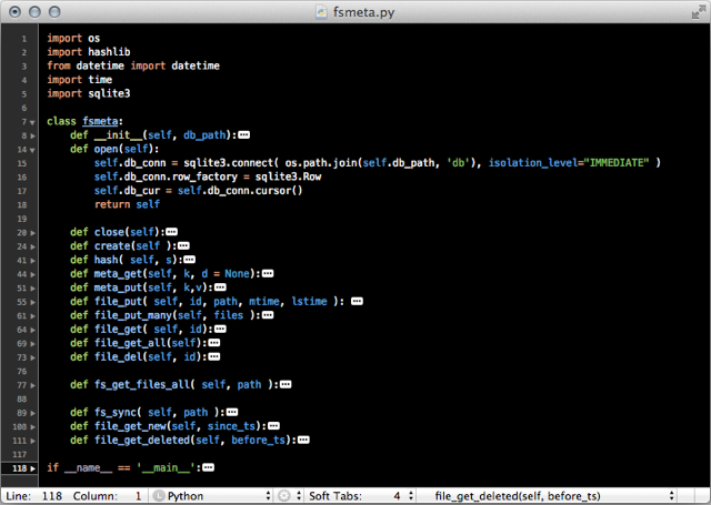 TextMate 2 screenshot