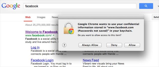 how to delete fb password on chrome